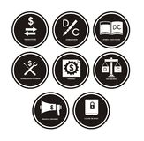 Accounting Icons Stock Image