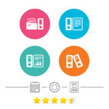Accounting icons. Document storage in folders. Royalty Free Stock Photo