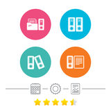 Accounting icons. Document storage in folders. Stock Photo