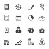 Accounting icons Stock Photos