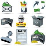 Accounting Icons Set 3 Stock Photo