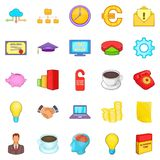 Accounting icons set, cartoon style. Accounting icons set. Cartoon set of 25 accounting icons for web isolated on white background Royalty Free Stock Photos
