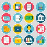 Accounting icons set Stock Photography