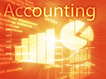 Accounting illustration. Of Spreadsheet and business financial charts Stock Images