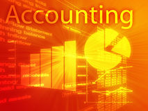 Accounting illustration. Of Spreadsheet and business financial charts Royalty Free Stock Photos