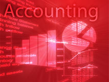 Accounting illustration. Of Spreadsheet and business financial charts Royalty Free Stock Image
