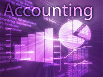 Accounting illustration. Of Spreadsheet and business financial charts Royalty Free Stock Photo