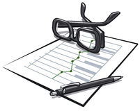 Accounting. Illustration of the accounting balance Stock Photography
