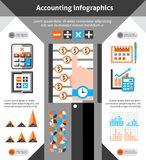 Accounting infographics set Royalty Free Stock Photo
