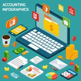 Accounting infographics set Royalty Free Stock Image