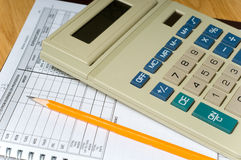 Accounting Items Stock Image