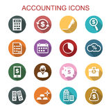 Accounting long shadow icons Royalty Free Stock Photos