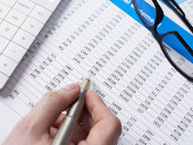 Accounting. Man working on financial documents Stock Photography
