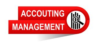 Accounting management banner. Icon on isolated white background - vector illustration Royalty Free Stock Photos