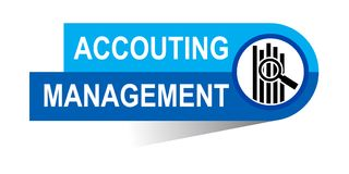 Accounting management banner. Icon on isolated white background - vector illustration Royalty Free Stock Images
