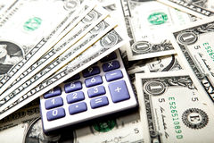 Accounting in the money Royalty Free Stock Photo