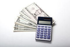 Accounting in the money Stock Photography