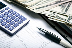 Accounting in the money Royalty Free Stock Images