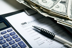 Accounting in the money Stock Images