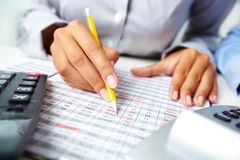 Accounting notes Stock Image