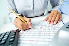 Accounting notes Royalty Free Stock Image