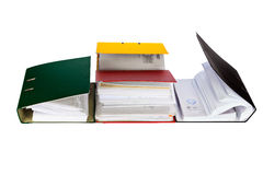 Accounting records. Stock Photo