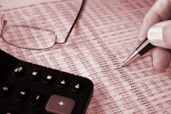 Accounting Report Royalty Free Stock Photo