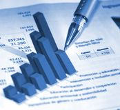 Accounting report Stock Images