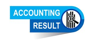 Accounting result banner. Icon on isolated white background - vector illustration Stock Images