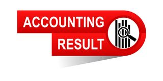 Accounting result banner. Icon on isolated white background - vector illustration Stock Photo