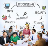 Accounting Security Management Profit Analysis Concept Royalty Free Stock Photography