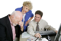 Accounting Series - Financial Worries Stock Photography