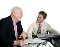 Accounting Series - Happy Sr. Man Royalty Free Stock Image