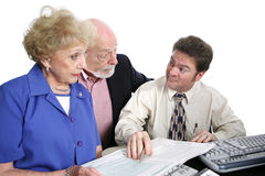 Accounting Series - Shady Accountant royalty free stock image
