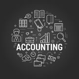 Accounting service - Round Concept Stock Photo