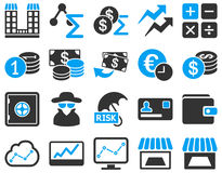 Accounting service and trade business icon set Stock Photos