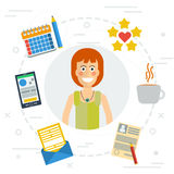 Accounting services flat illustration Royalty Free Stock Photography