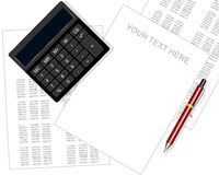 Accounting statements making. Vector illustration of a accounting statements making Stock Images