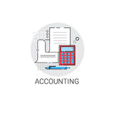 Accounting Statistics Analysis Finance Icon. Vector Illustration Royalty Free Stock Photography