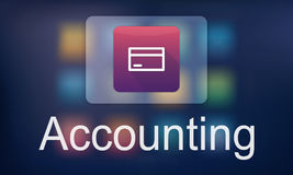 Accounting Statistics Technology Application Concept Stock Photos