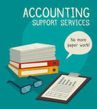 Accounting Support Services Concept Stock Photos