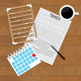 Accounting tax forms Stock Photo