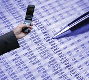 Accounting and technology Stock Photography