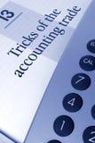Accounting Tricks Stock Photo