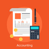 Accounting. Vector illustration of accounting flat design concept royalty free illustration