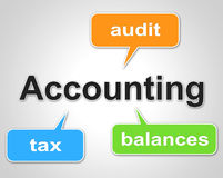 Accounting Words Indicates Balancing The Books And Accountant Stock Photos
