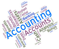 Accounting Words Represents Balancing The Books And Accountant Royalty Free Stock Photography