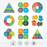Accounting workflow icons. Human documents Royalty Free Stock Photos