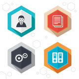 Accounting workflow icons. Human documents Royalty Free Stock Image