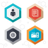 Accounting workflow icons. Human documents Stock Images